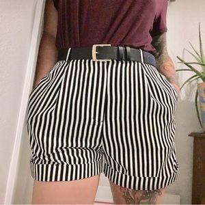 Women's striped high waist American apparel shorts